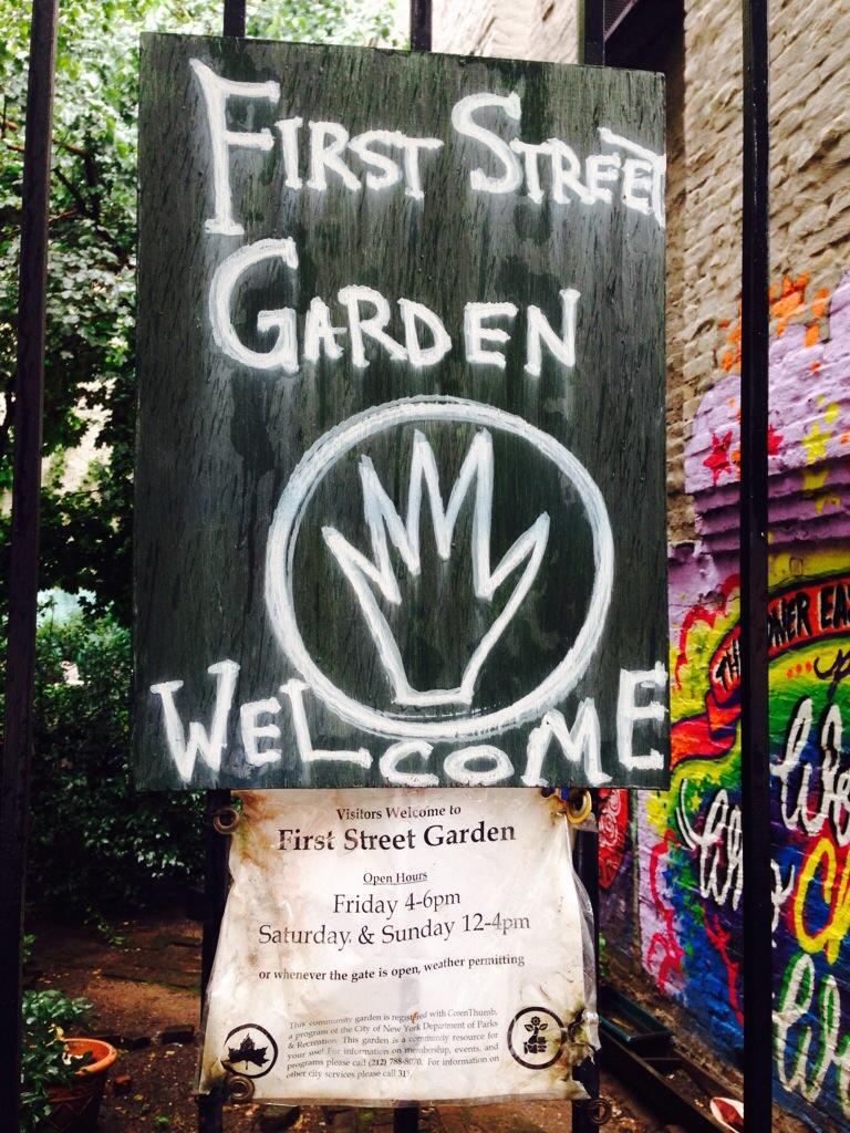 First Street Garden im East Village in New York City.