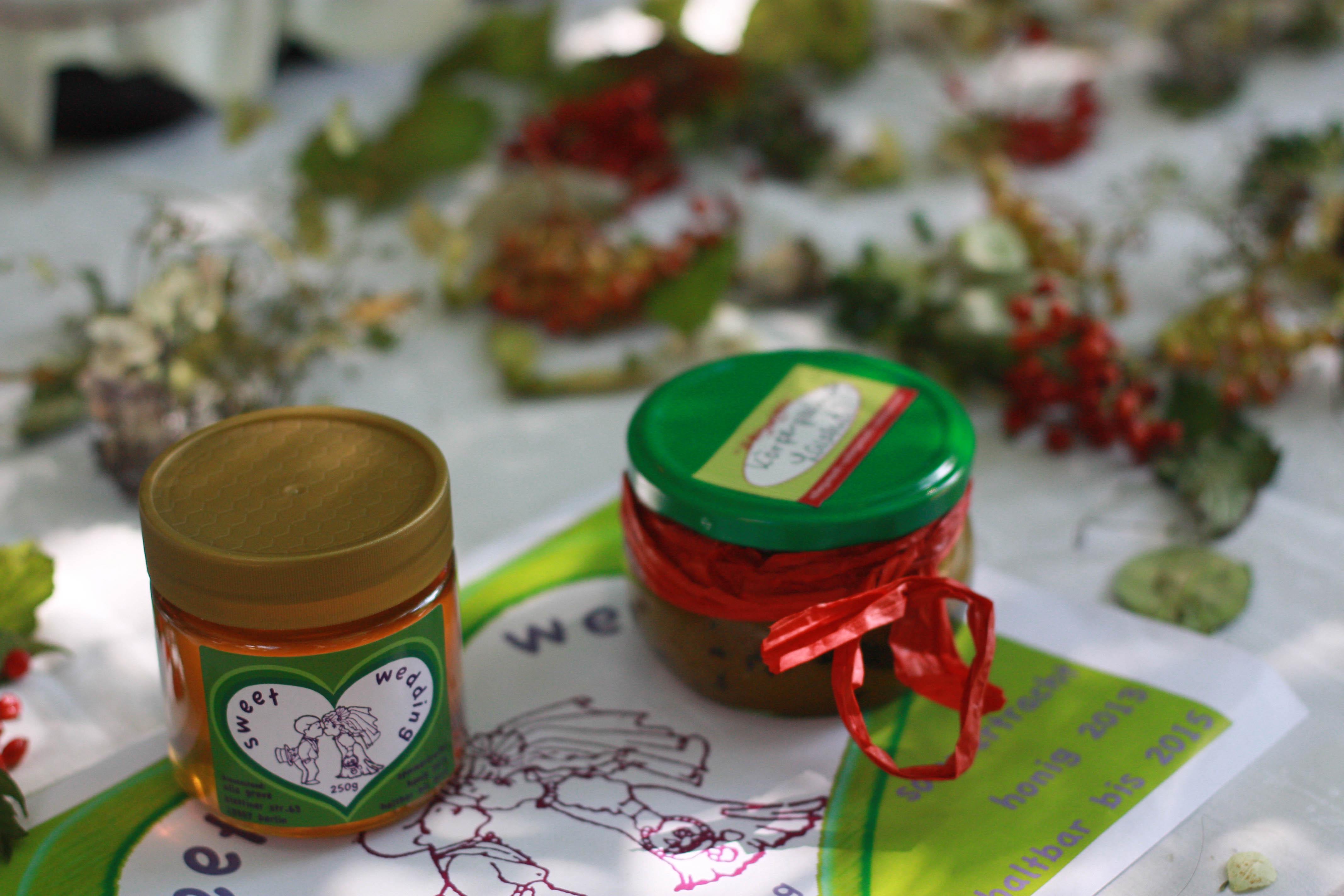 Honig und Olivenöl-Honig-Lavendel Körperpeeling
