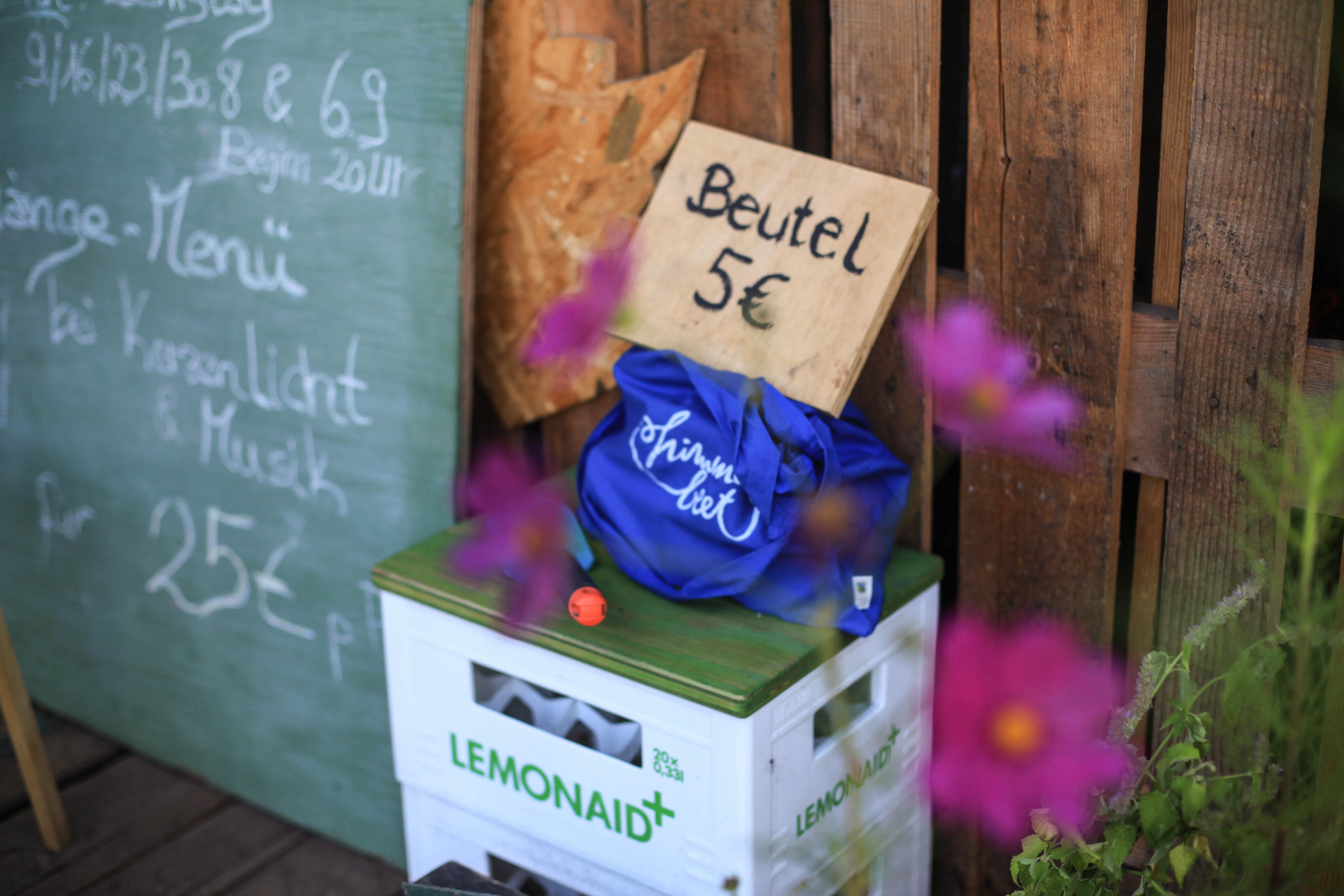 himmelbeet Jutebeutel für 5 Euro.