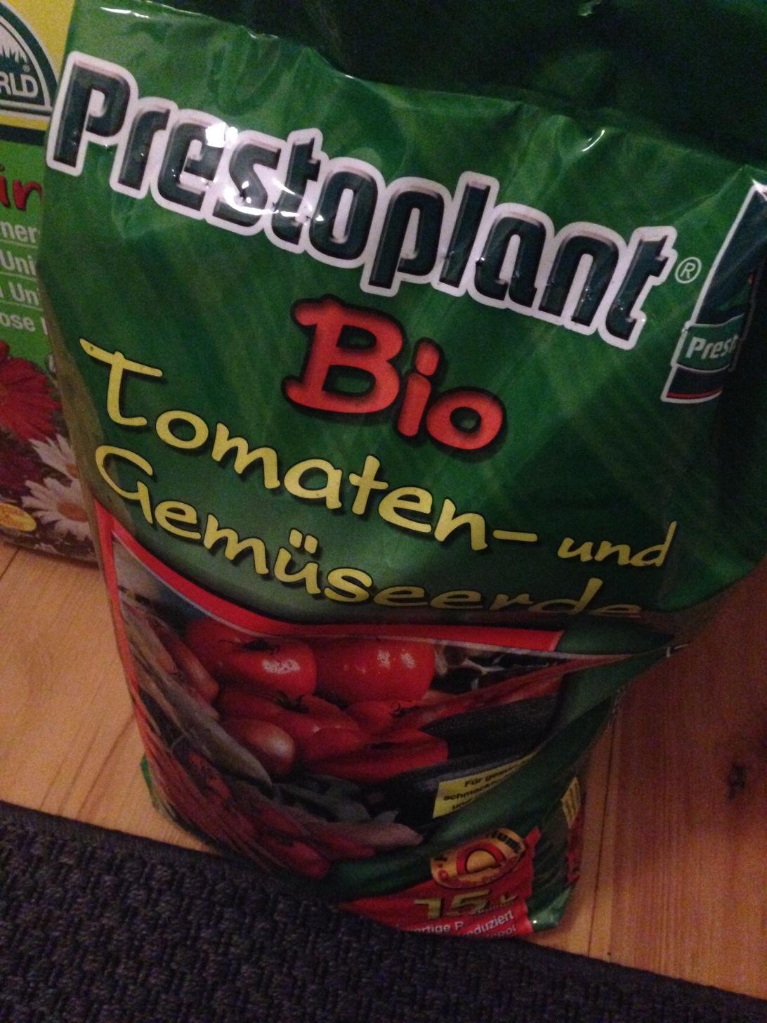 Prestoplant Bio Tomaten- und Gemüseerde.