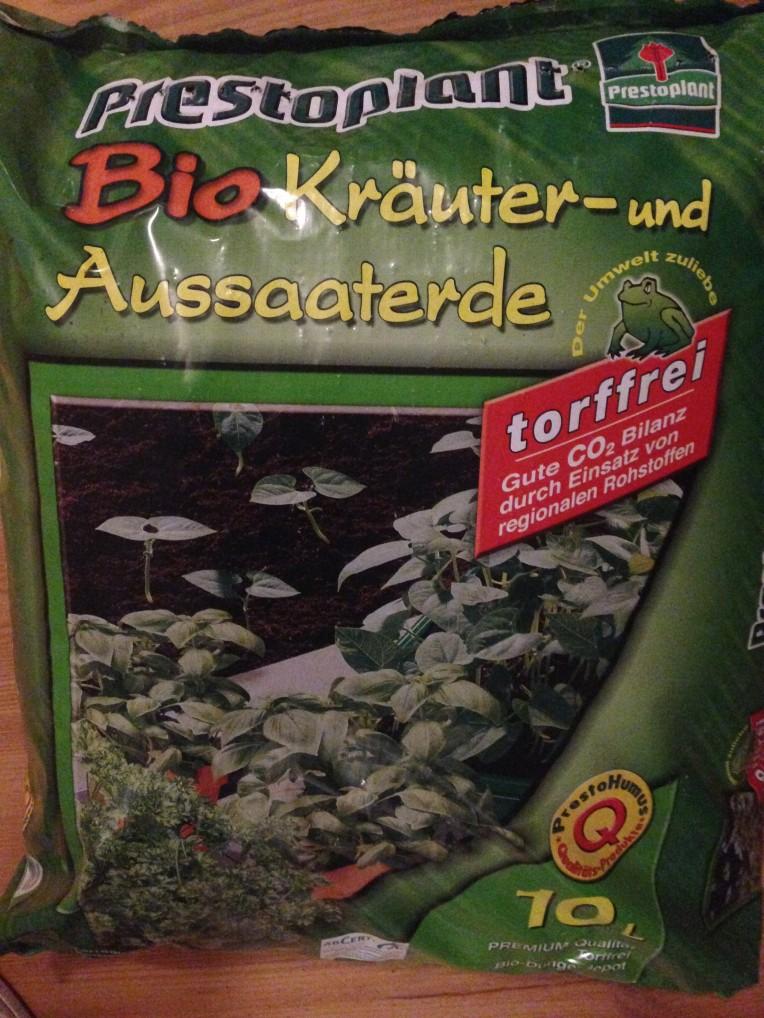 Bio Kräuter- und Aussaaterde von Prestoplant.
